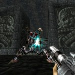 Turok 1 Remake Giant Fly Boss Mantis Catacombs Guardian Enemy PC Gameplay Screenshot