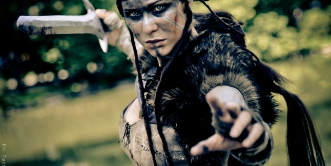 Hellblade Senua Cosplay Ready to Strike Starring LadyLemon