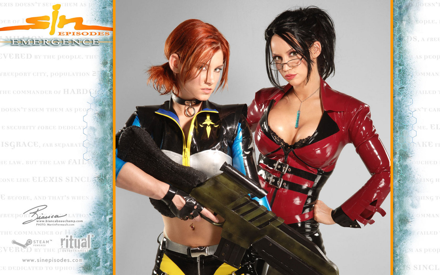 Sin Cosplay Elexis Sinclaire Double Trouble With Jessica Starring Bianca Beauchamp by Martin Perreault
