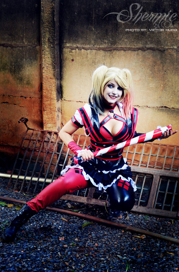 Harley Quinn Shermie Arkham Knight Cosplay Lets Fight Bats by Victor Hugo