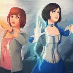 Life is Strange Fanart Bioshock Max and Elizabeth Infinity is Strange by Chizuu
