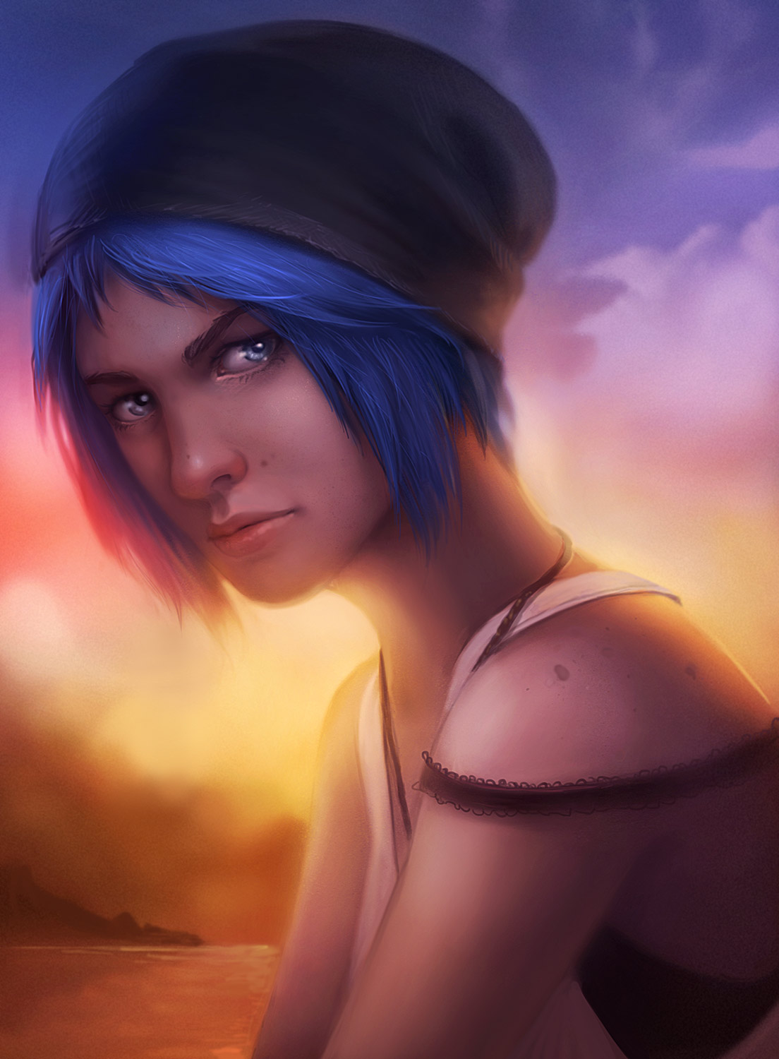 Life is Strange Fanart Chloe Teardrop by Lepyoshka