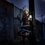 Harley Quinn Shermie Arkham Knight Cosplayer Mr J Im Scared of the Dark
