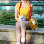 Misty Cosplay Water Fountain With Psyduck Togepi Starring Sanchanclau