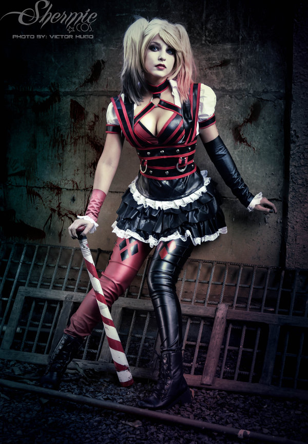 Harley Quinn Shrmie Akrham Knight Cosplay Patience Whats That By Victor Hugo