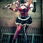 Harley Quinn Shermie Arkham Knight Cosplay Eyes Off My Chest Boy by Victor Hugo
