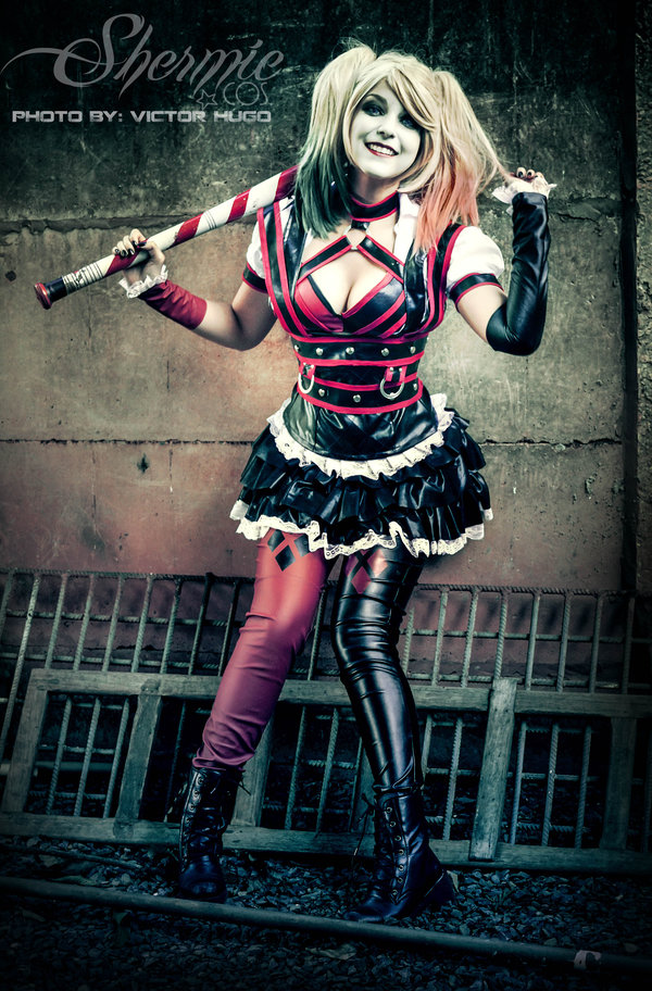 Harley Quinn Shermie Arkham Knight Cosplay Eyes Off My Chest Boy by Victor Hugo