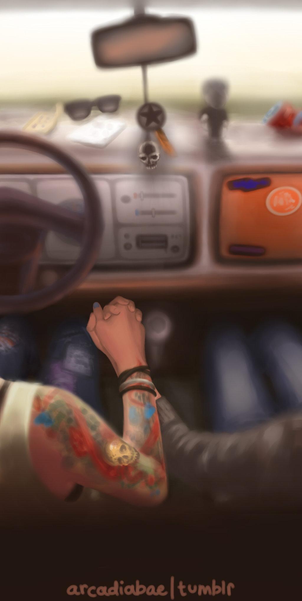 Life Is Strange Fanart Max Chloe Lesbian American Girls Driving Car by Seaside by Medoree Sound