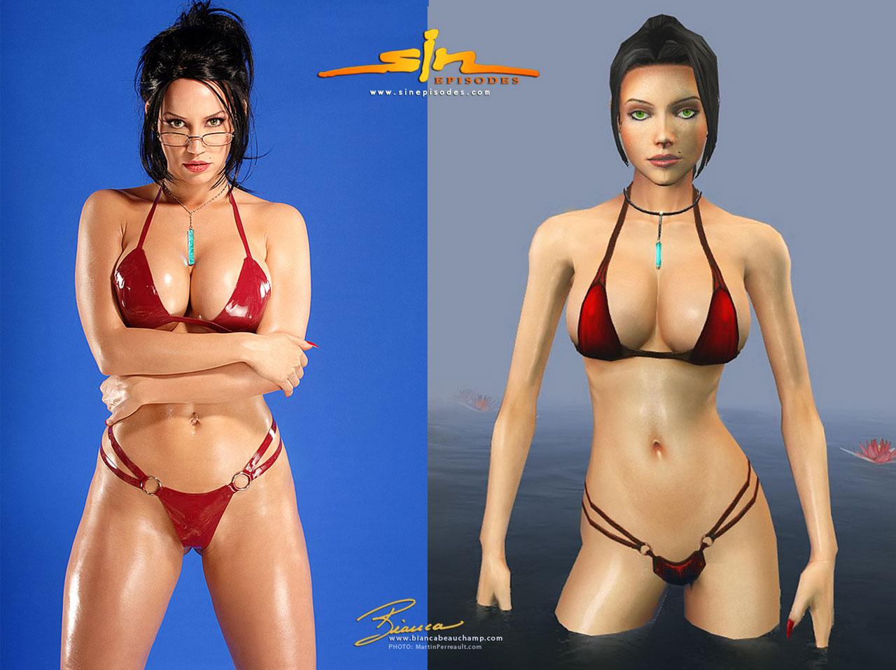 Sin Cosplay Elexis Sinclaire Bikini Starring Bianca Beauchamp by Martin Perreault