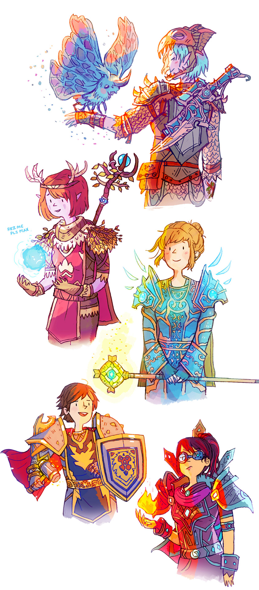 Life Is Strange Fanart Wow World Of Warcraft Guild Of Arcadia Chloe The Hunter Max The Druid
