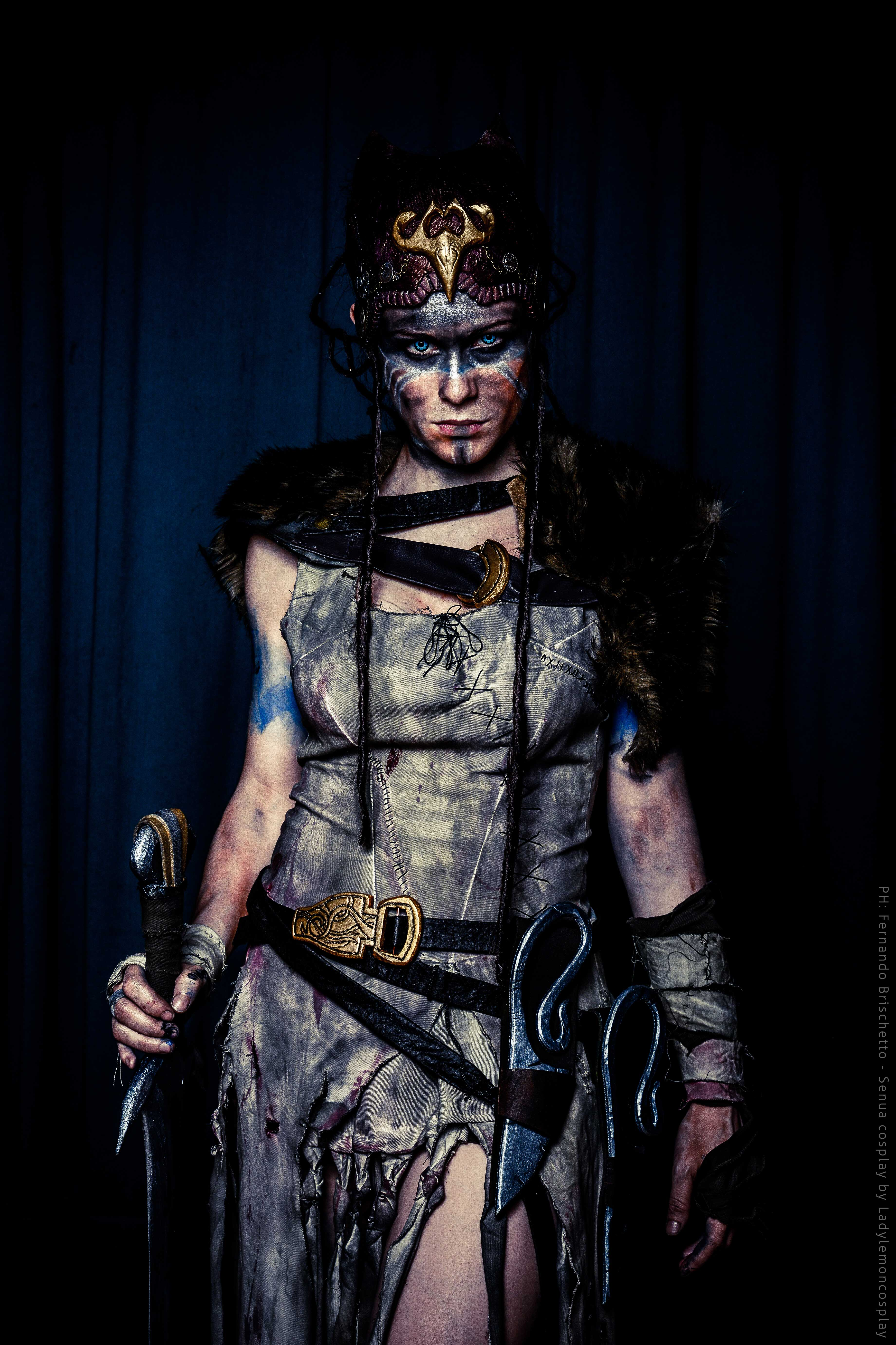 Hellblade Senua Cosplay Queen Assassin Starring LadyLemon