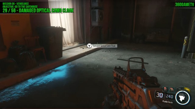 Call of Duty: Black Ops 3 Damaged Optical Camo Cloak Location in Mission 6: Vengeance