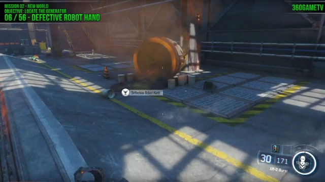 Call of Duty: Black Ops 3 Defective Robot Hand Location in Mission 2: New World