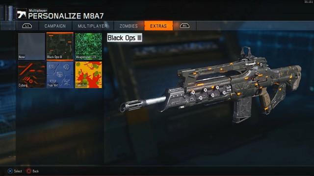 Call of Duty: Black Ops 3 Unlockable Extras Camos