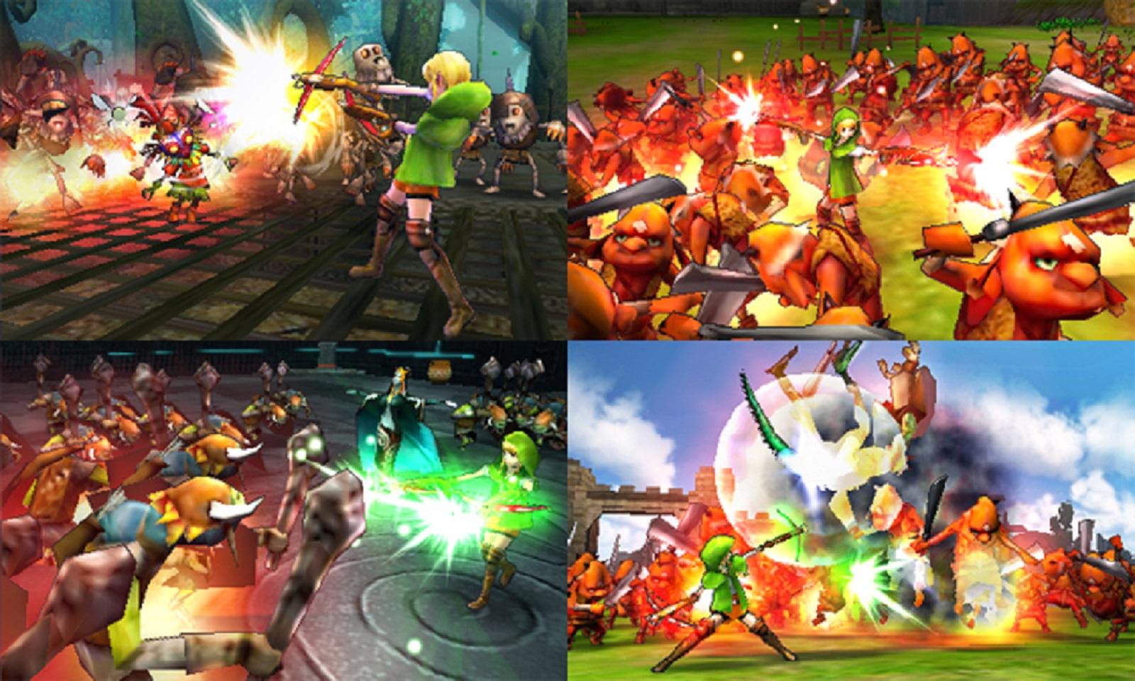 Hyrule Warriors Legends Linkle Attacks Gameplay Screenshot 3ds