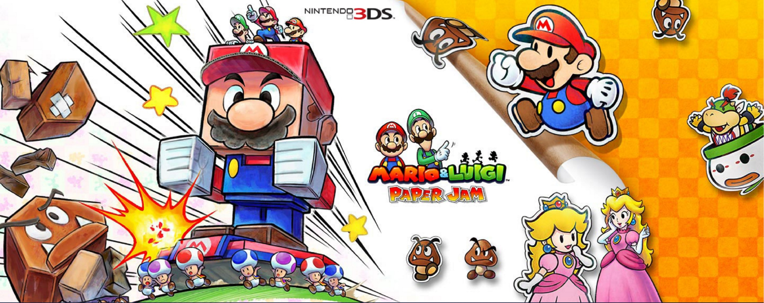 Pictures of super mario and luigi impremedia mario and luigi paper jam wallpaper cast artwork official nintendo 3ds altavistaventures Gallery