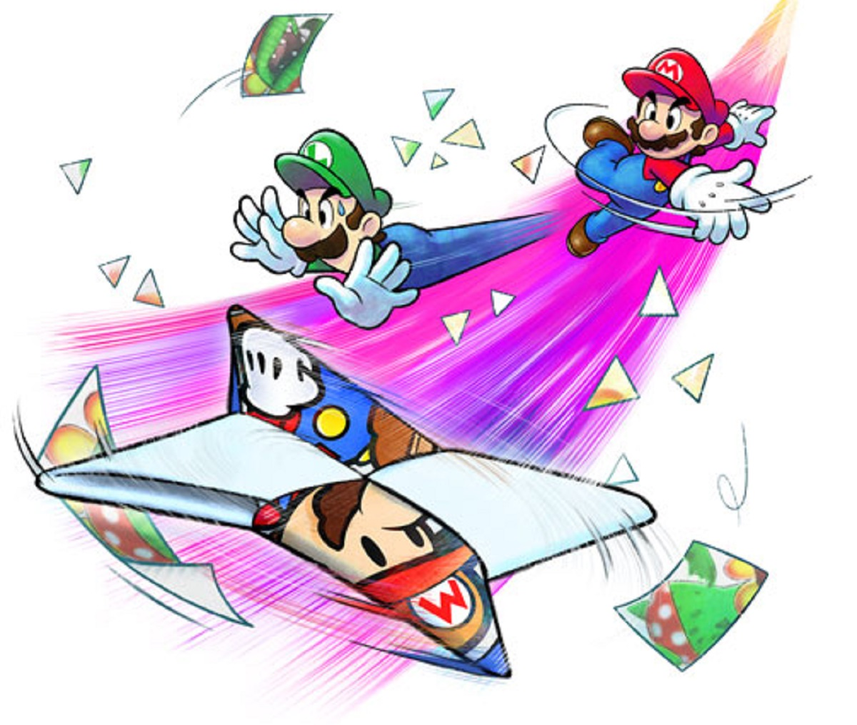 Mario And Luigi Paper Jam Ninja Stars Artwork Official