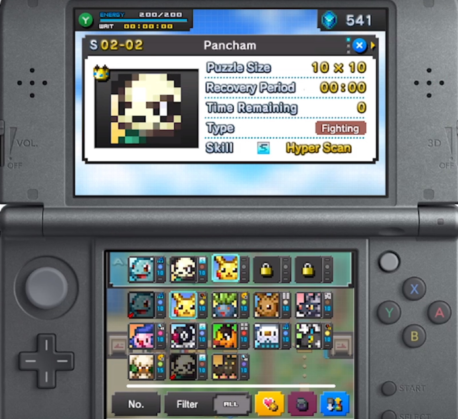 3Ds Future Releases pokemon picross 3ds party support abilities gameplay screenshot