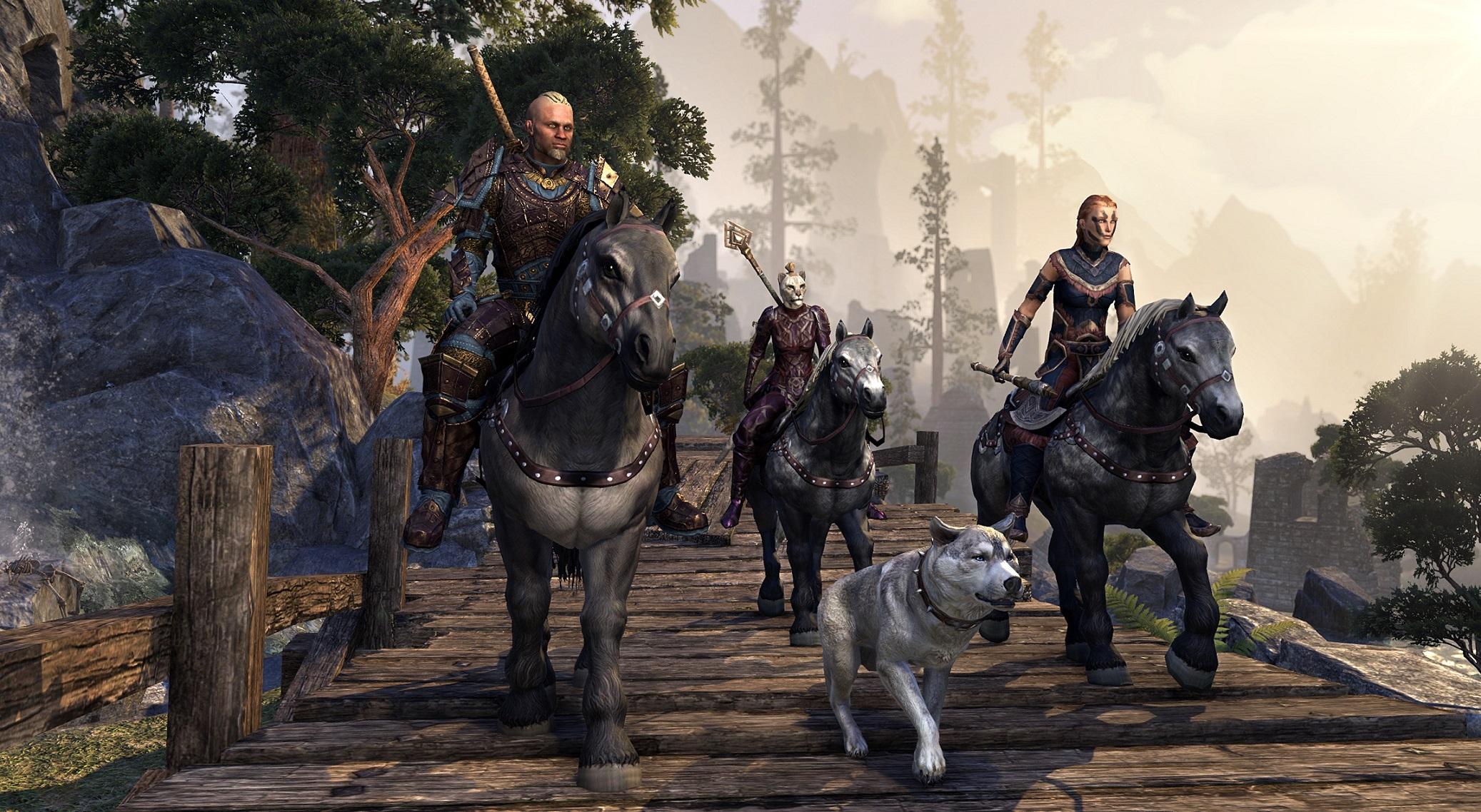 Elder Scrolls Online Tamriel Unlimited Screenshot New Eyes on Wrothgar Horizons