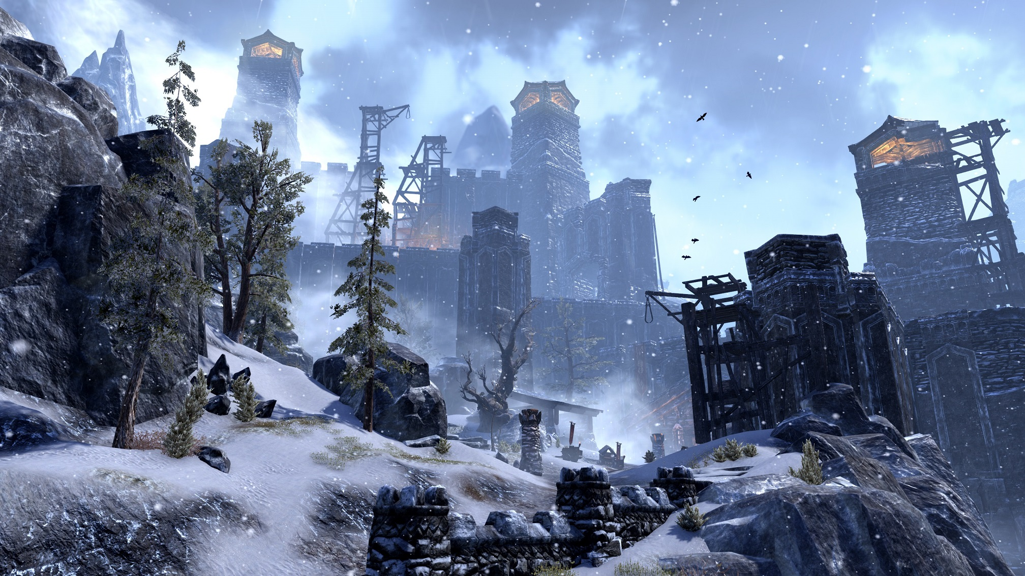 Elder Scrolls Online Tamriel Unlimited Screenshot Wrothgarian Mountains Towers of Orsinium Rise Anew