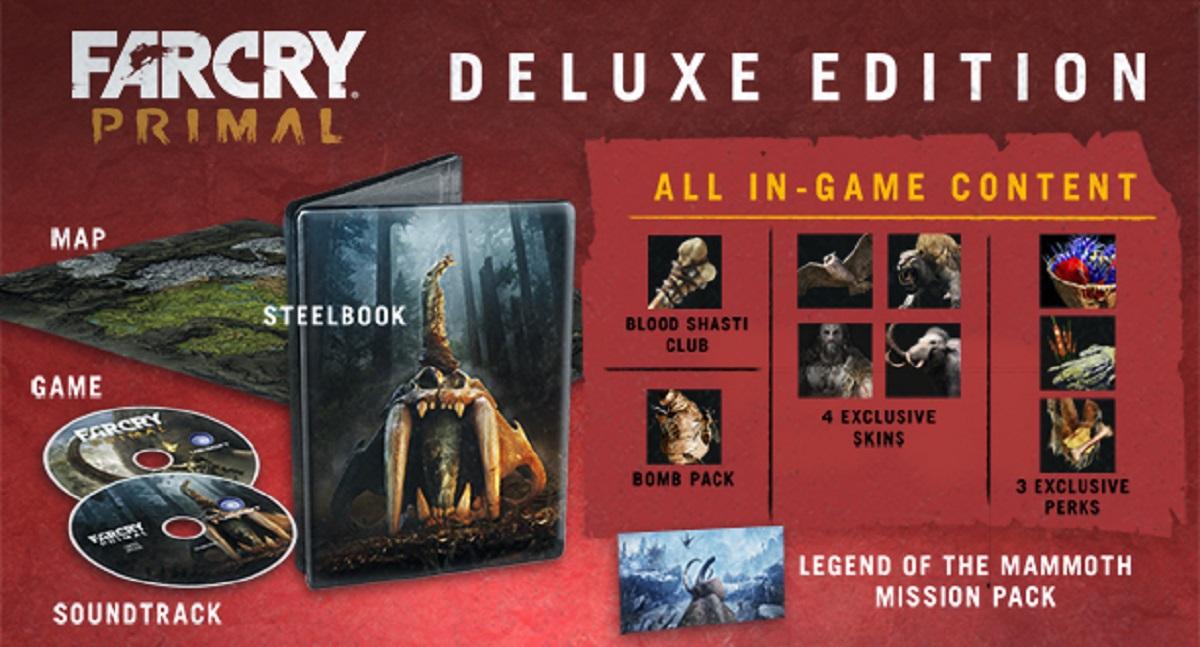 Far Cry Primal Deluxe Edition Boxset Usa Steelbook Soundtrack Map