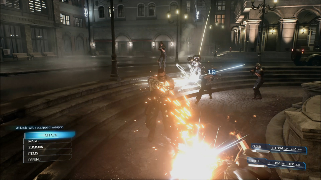 Final Fantasy VII Remake Barret Wallace Battle Screenshot