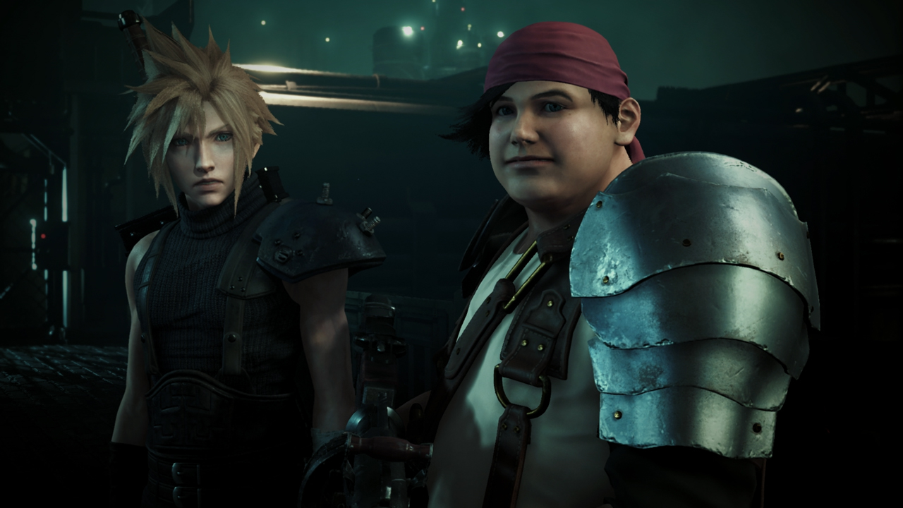 Final Fantasy VII Remake Cloud Strife and Wedge Screenshot