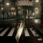 Final Fantasy VII Remake Cloud Strife City Screenshot