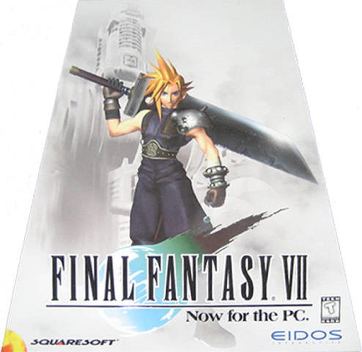 PC Final Fantasy VII Front USA Triangle Box Artwork