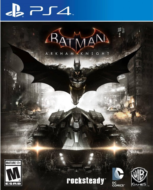 PS4 Batman Arkham Knight USA Box Artwork M for Mature