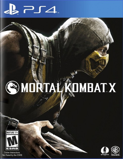 PS4 Mortal Kombat X USA Box Artwork M for Mature