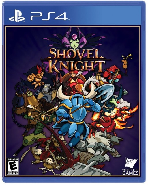 PS4 Shovel Knight USA Box Artwork E For Everyone