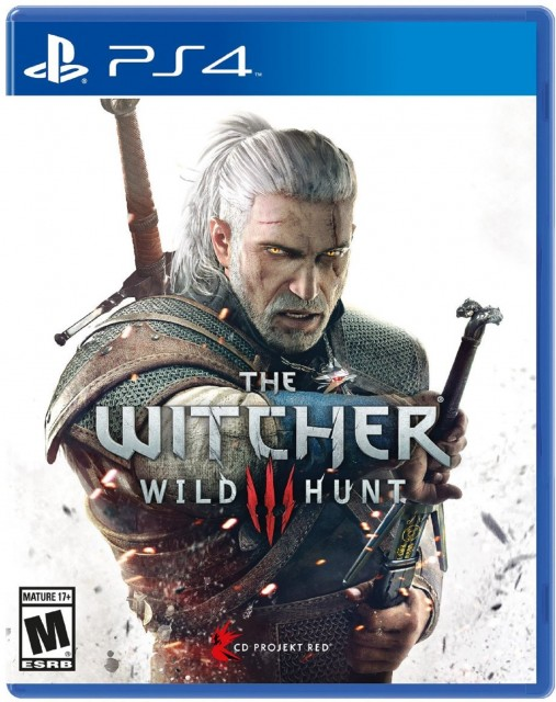 PS4 Witcher 3 Wild Hunt USA Box Artwork M for Mature