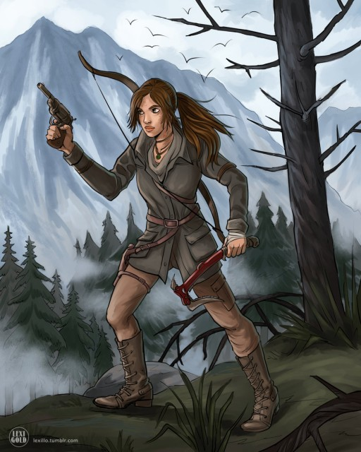 Rise of the Tomb Raider Lara Gun Hammer Fanart by Lexigold Deviantart