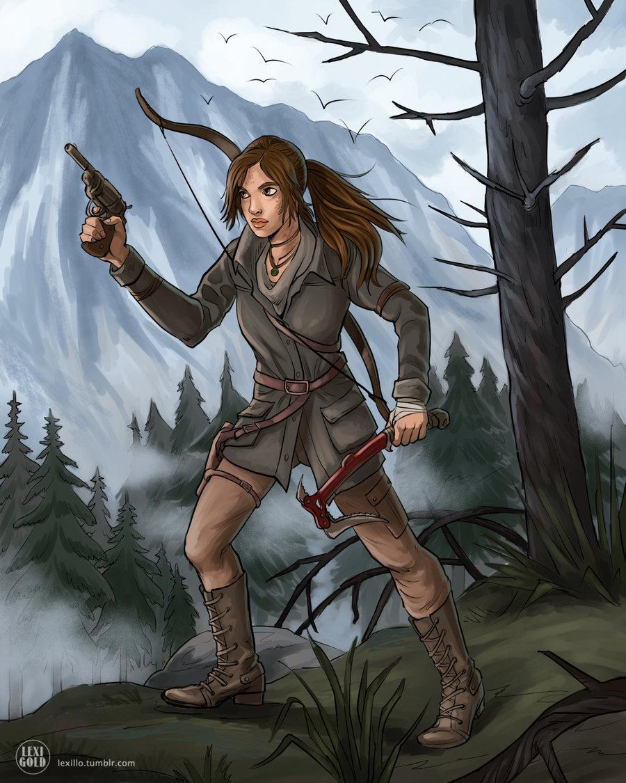 Art Lara Croft Shadow Of The Tomb Raider Desktop Wallpapers: Rise Of The Tomb Raider Lara Gun Hammer Fanart By Lexigold