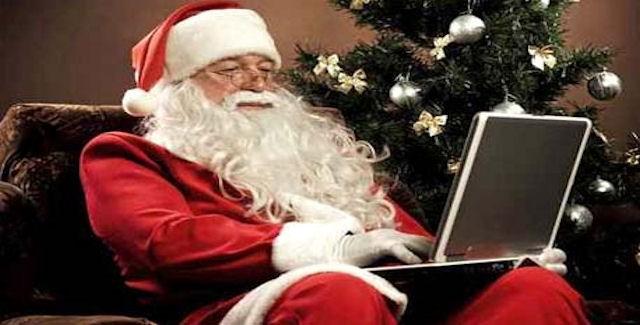 Santa playing video games
