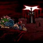 Super Mario RPG Cast Fight Exor Sword At Bowsers Castle Geno Mallow Peach
