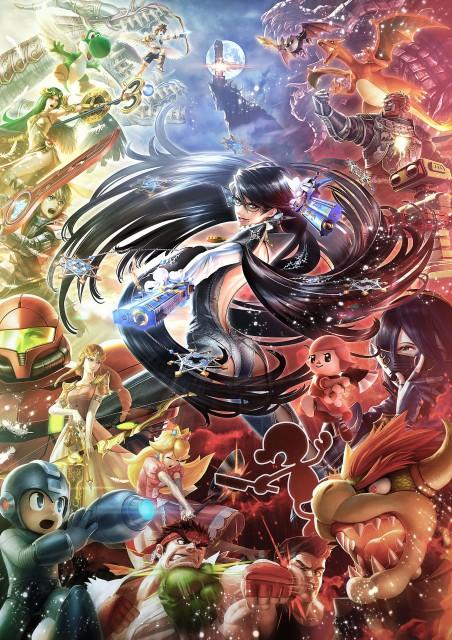 Super Smash Bros Wii U and 3DS Bayonetta Artwork