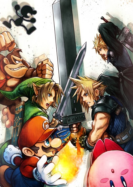 Super Smash Bros Wii U and 3DS Cloud Artwork