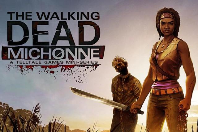 Telltales Walking Dead Michonne Badass Artwork Logo Zombies Official