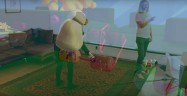 VR Fantastic Contraption Vive Real Life Superimposed Gameplay Screenshot