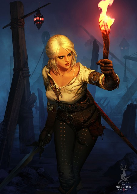 Witcher 3 Ciri Fanart Torch by Feihong Chen