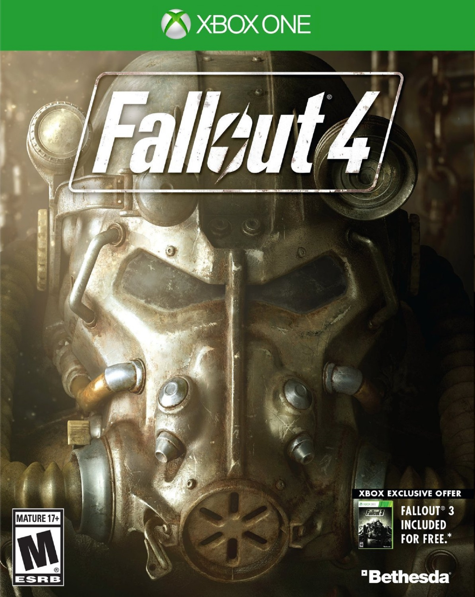 Xbox One Fallout IV USA Box Artwork Plus Fallout 3 M for Mature