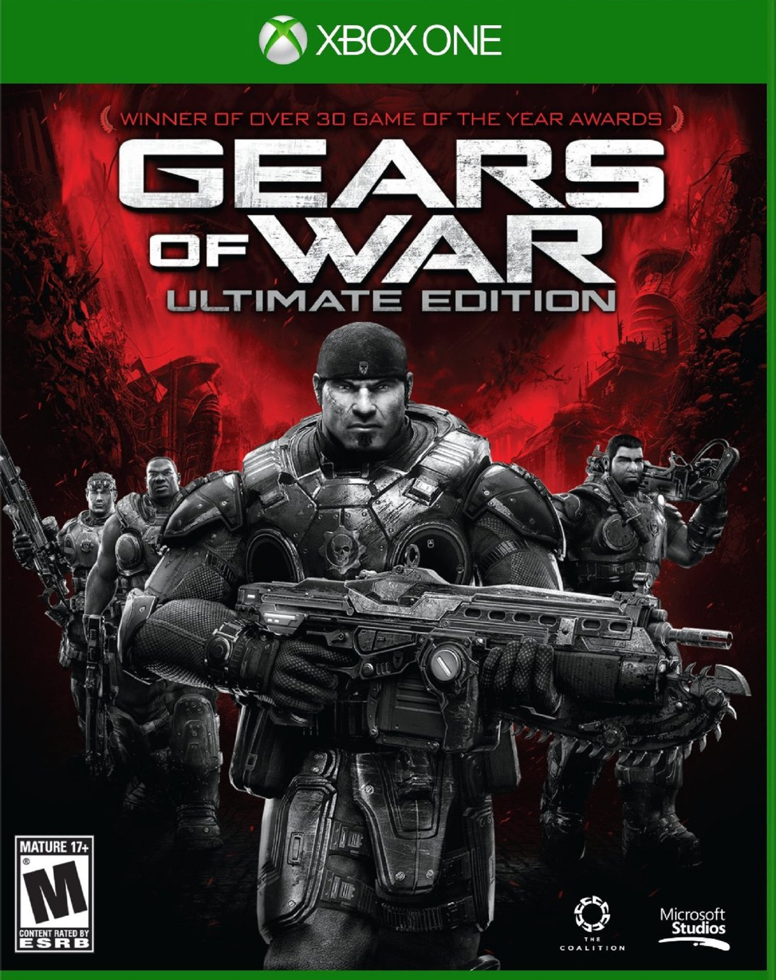 Xbox One Gears of War Ultimate Edition USA Box Artwork M for Mature