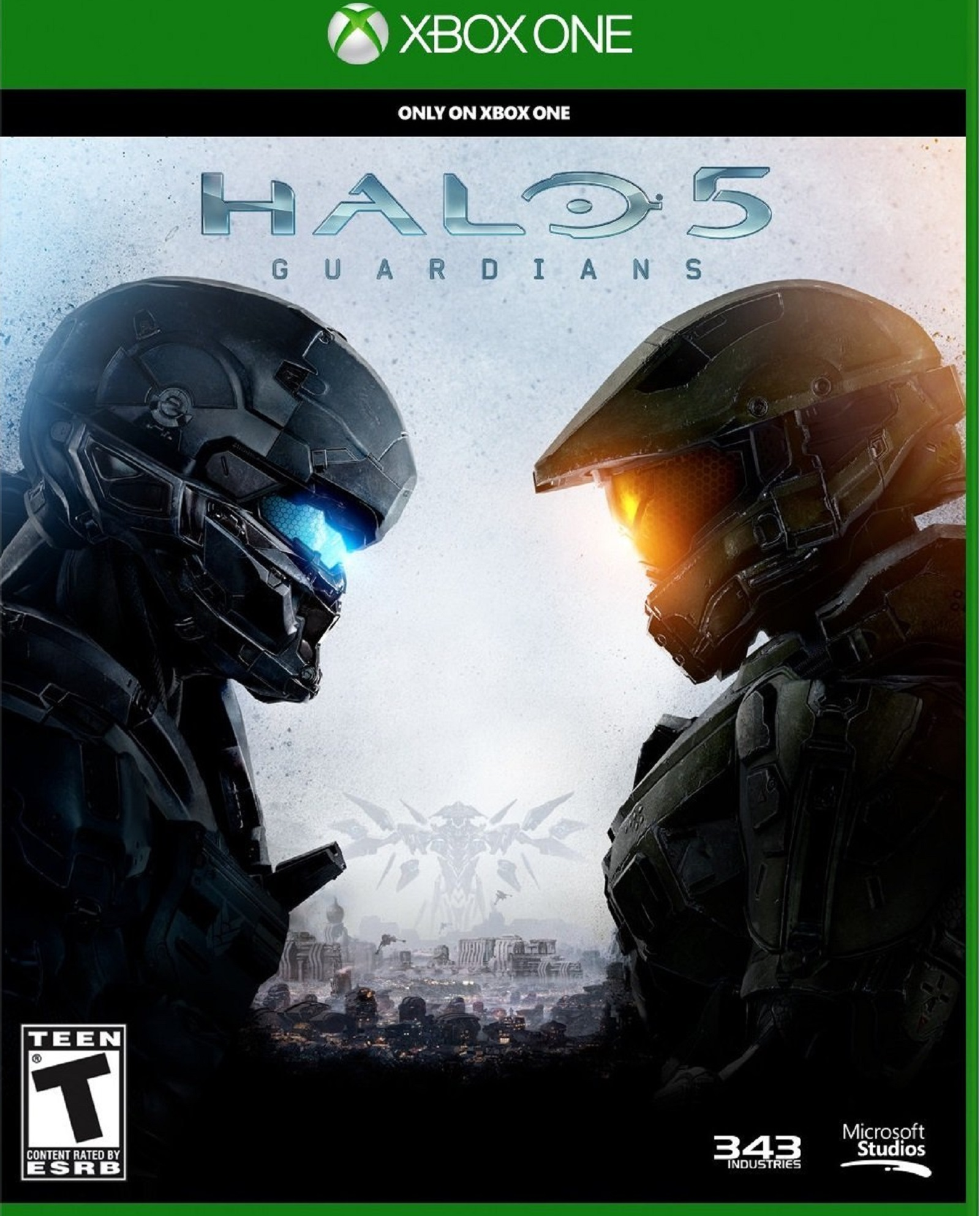 Xbox One Halo 5 Guardians USA Box Artwork T for Teen