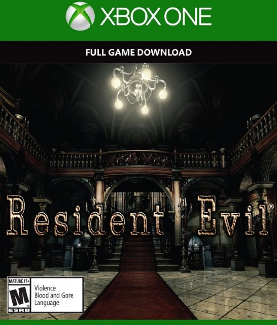 Xbox One Resident Evil HD Remaster USA Box Artwork M for Mature
