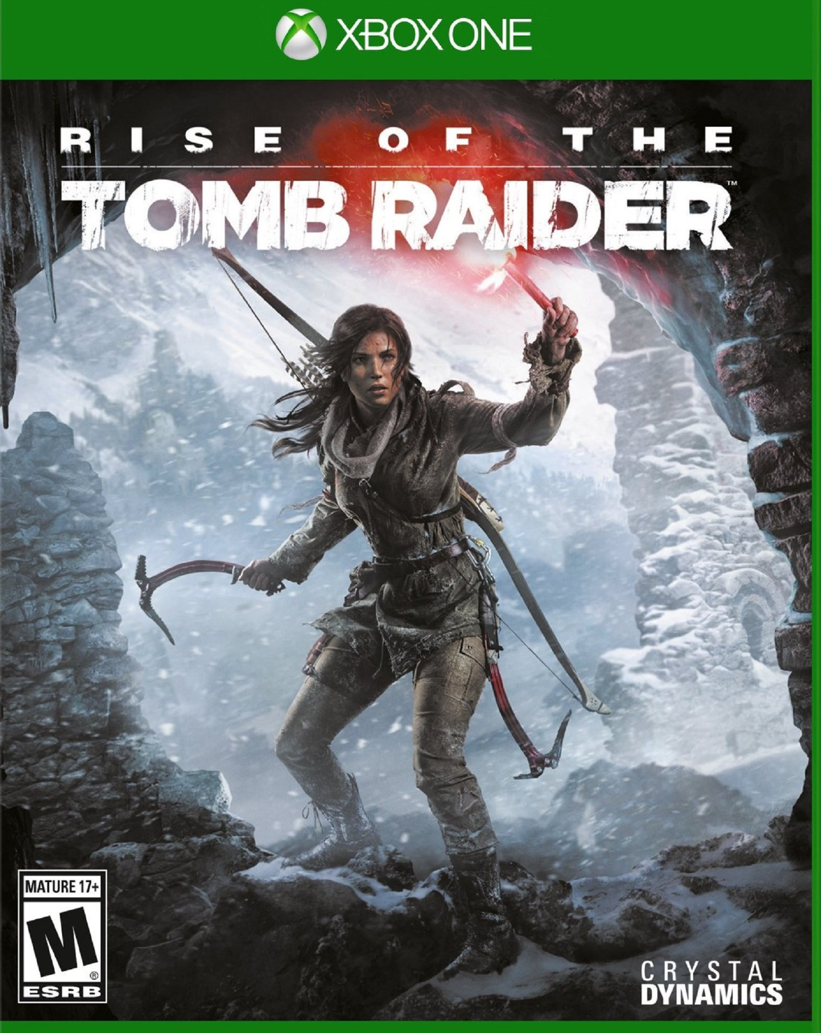 Xbox One Rise of the Tomb Raider USA Box Artwork M for Mature