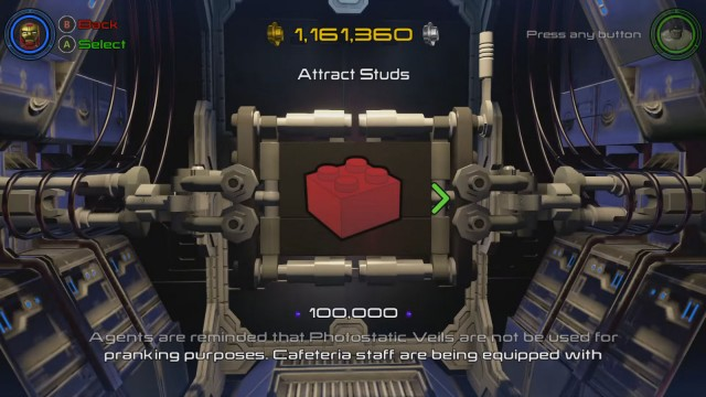 Lego Marvel's Avengers Red Brick 1: Attract Studs Location