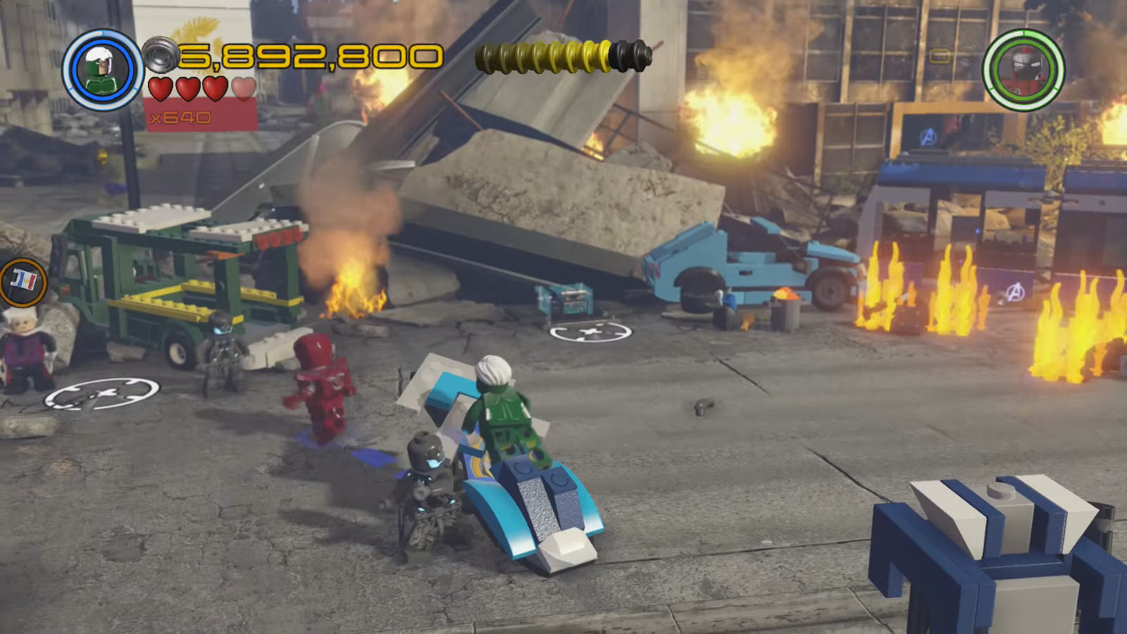 Lego Marvel S Avengers Red Brick 15 Fast Dig Location
