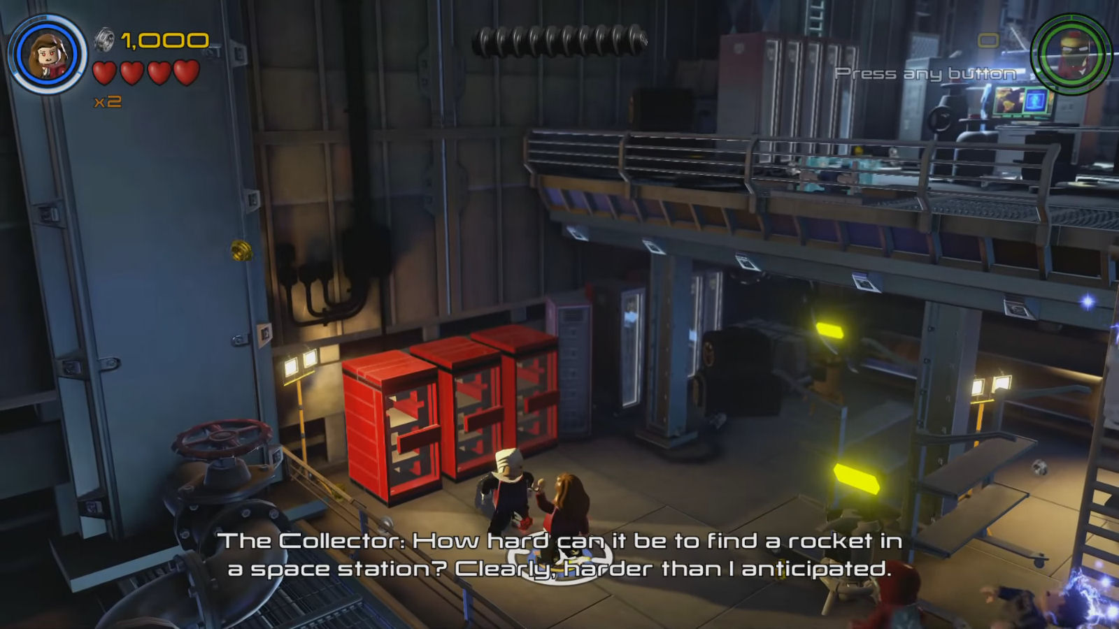 Lego Marvel's Avengers The Collector Miniature Rocket Location